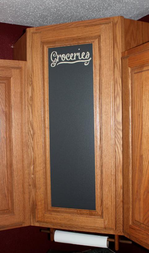 Unique home decor chalkboard cupboard door vinyl customizable sticker groceries