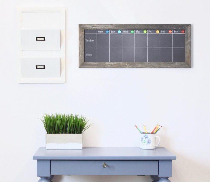 chalkboard decor magnetic chalk board command center