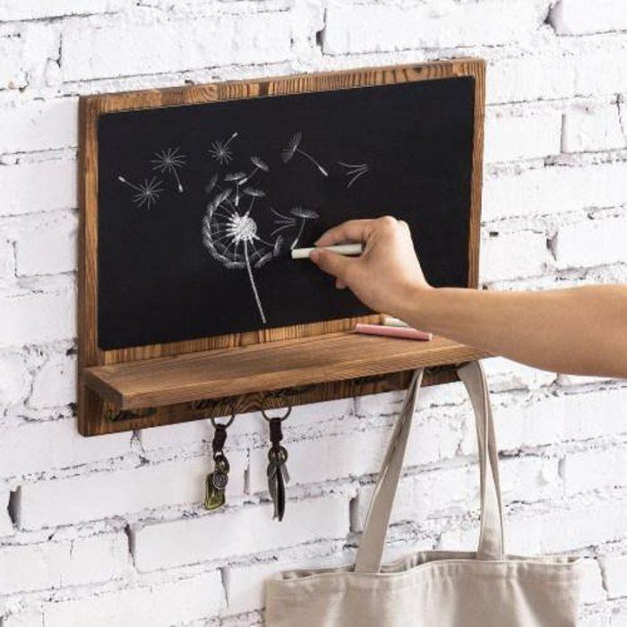 chalkboard home decor key holder