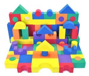 Gifts for a six year old boy soft foam blocks