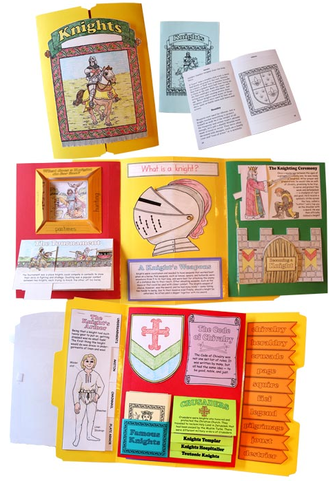 Homeschool in the woods lap-paks knights samples of lap books to make