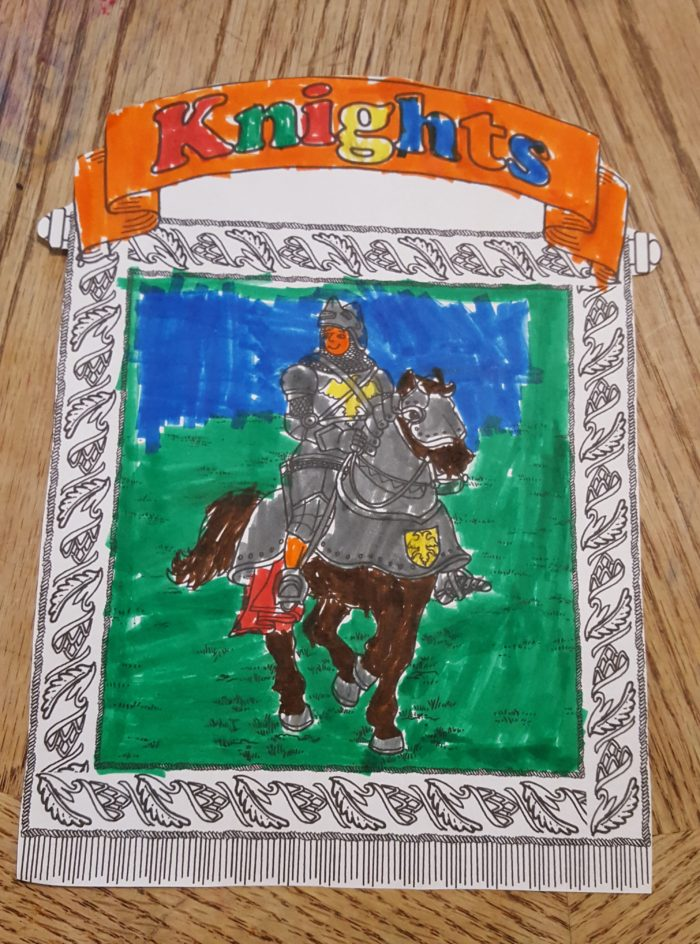 Homeschool in the woods printable Knights cover page for lap pak