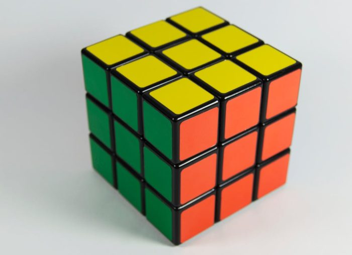 Skills to teach young children - rubiks cube to practice problem solving