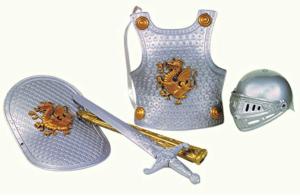 Gifts for a six year old boy plastic sword sheath helmet breastplate shield