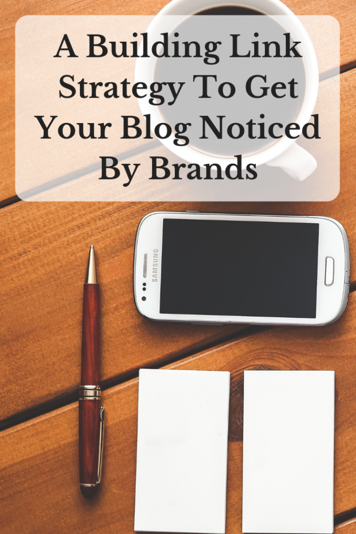 A Building Link Strategy To Get Your Blog Noticed By Brands image coffee smart phone pen note pads