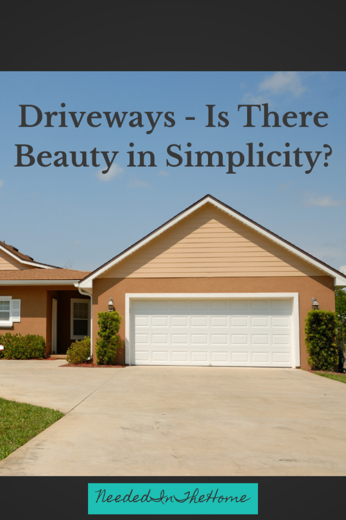 Driveways - Is there beauty in simplicity? a scuffed driveway in front of a modern home with minimal greenery neededinthehome