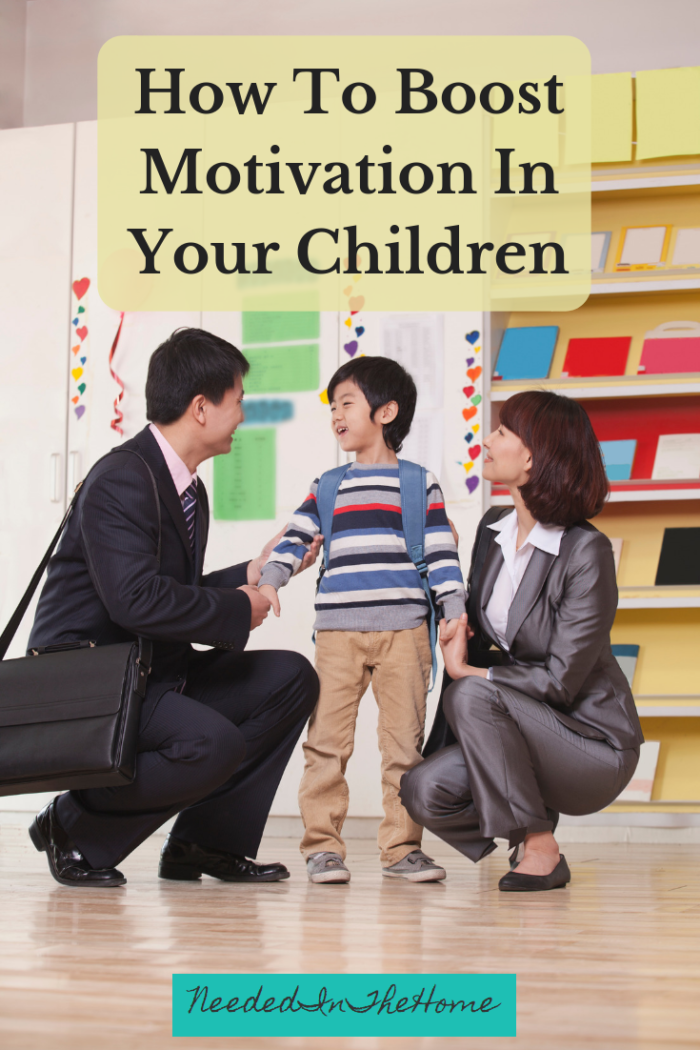How To Boost Motivation In Your Children parent talking to son about his school day neededinthehome