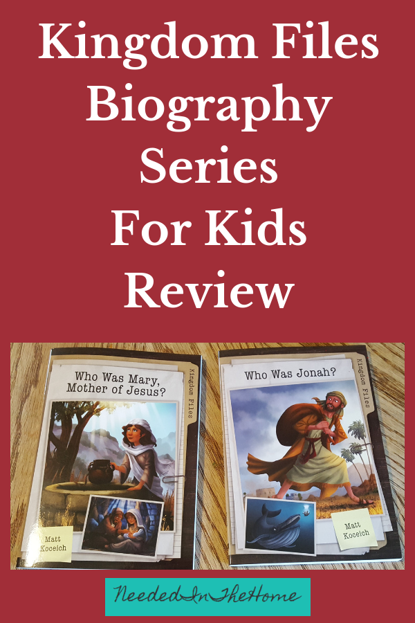 Kingdom Files Biography Series For Kids Review image book covers Who Was Mary Who Was Jonah neededinthehome