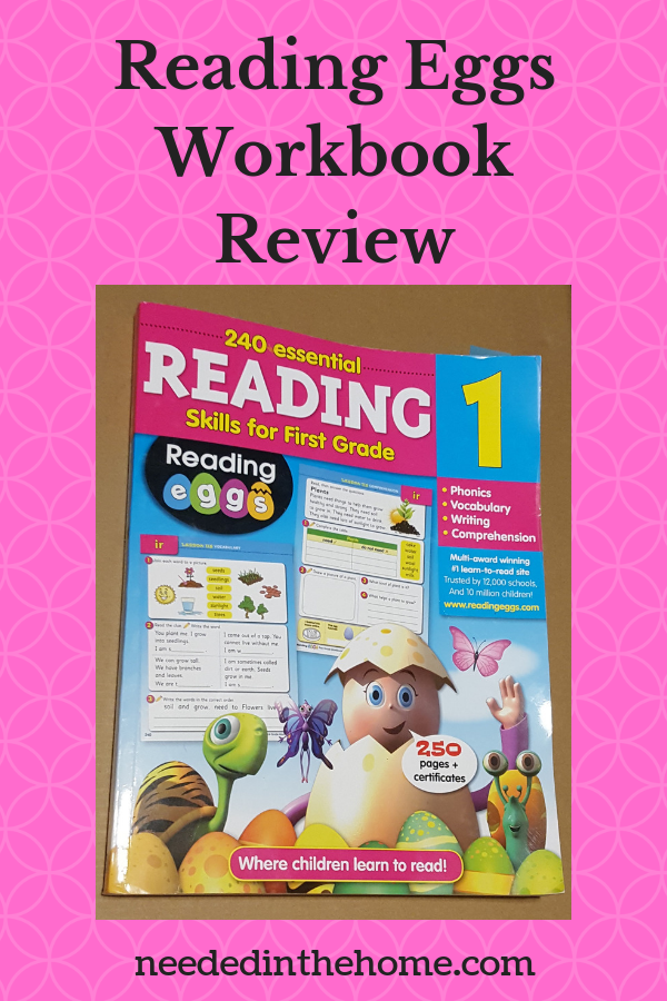 Reading Eggs Workbook Review work book cover first grade 1 neededinthehome