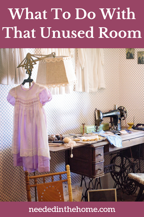 What to do with that unused room - sewing room sewing machine girl's dress neededinthehome