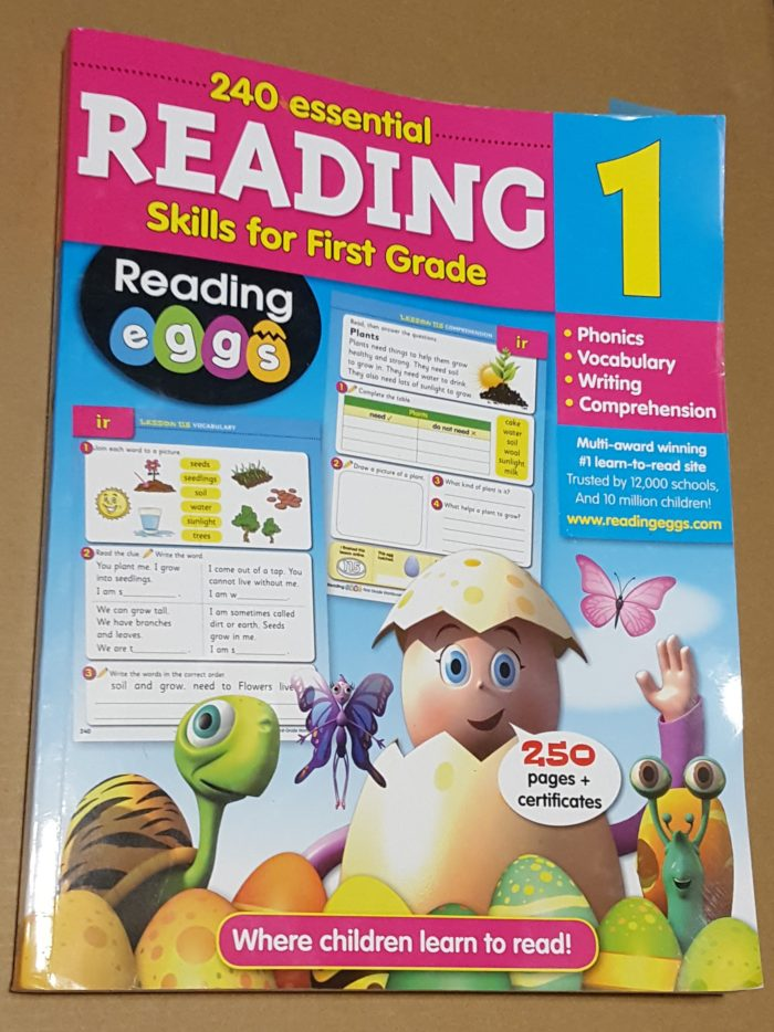 Reading Eggs workbook review grade 1 work book cover image