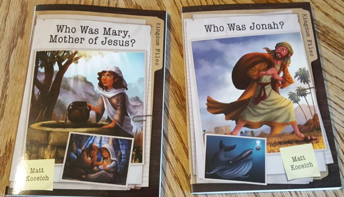 Kingdom Files Who Was Mary, Mother of Jesus? Who Was Jonah? by Matt Koceich chapter book images