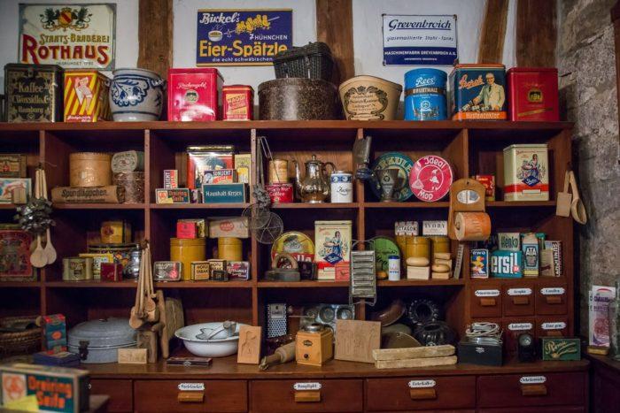 Unused room antique display shelf