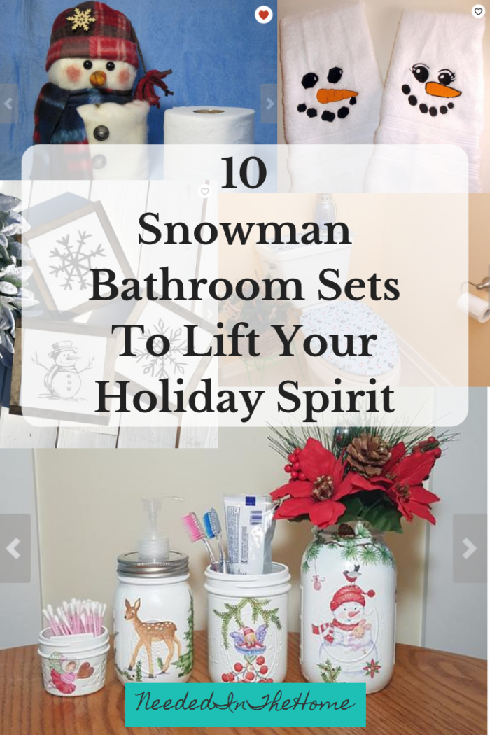 10 Snowman Bathroom Sets To Lift Your Holiday Spirit snowman toilet paper cover snow face towels painted mason jars neededinthehome