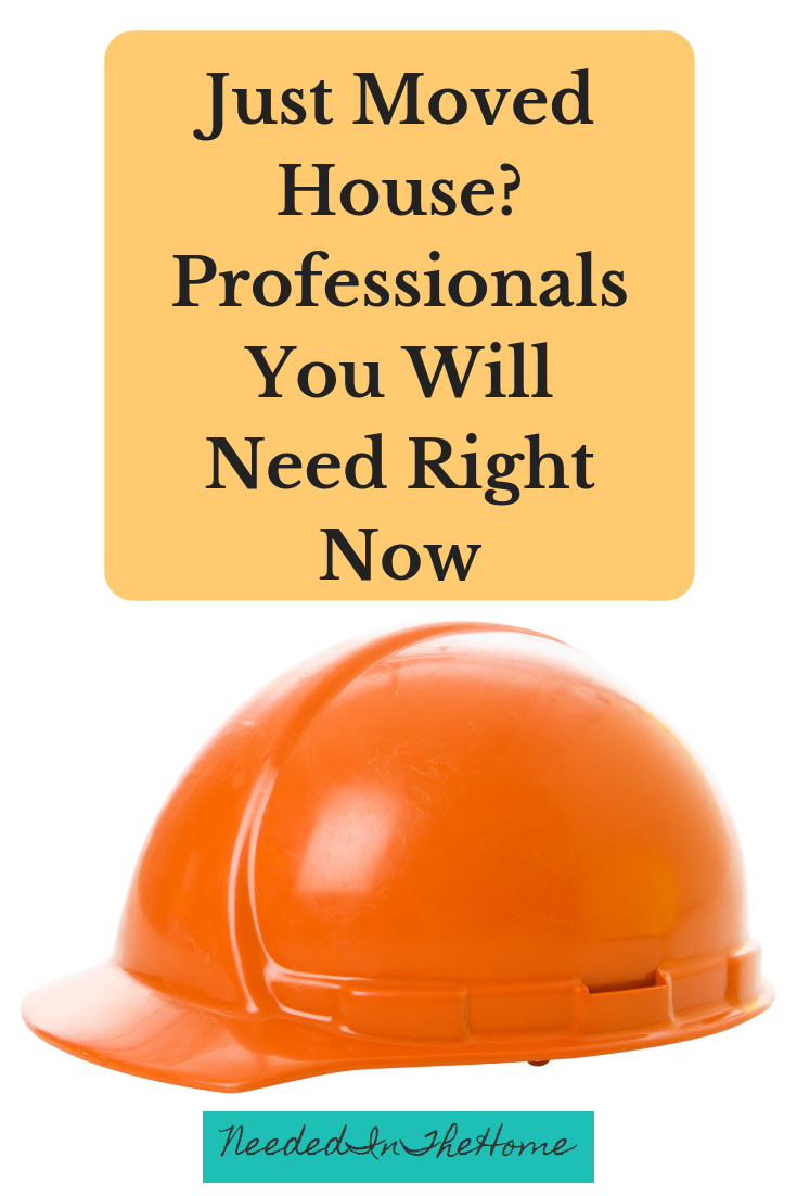 Just Moved House? Professionals You Will Need Right Now orange hard hat neededinthehome