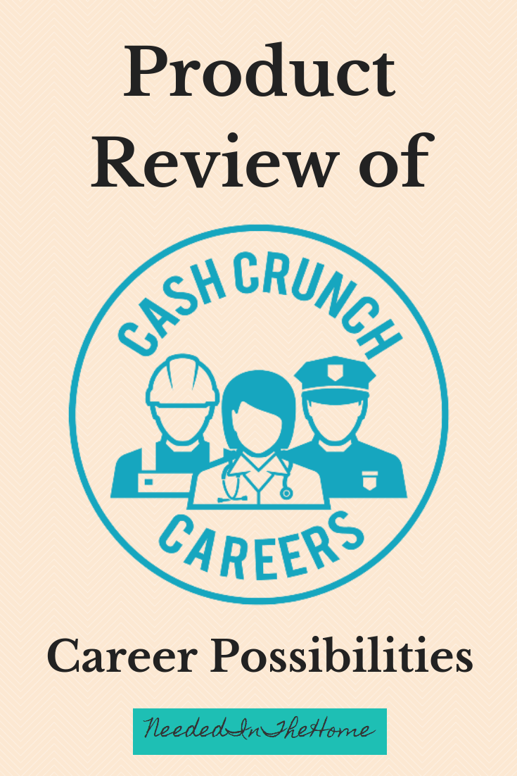 Product Review of CashCrunch Careers for Career Possibilities company logo neededinthehome