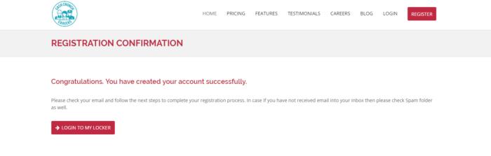 CashCrunch Careers Registration confirmation