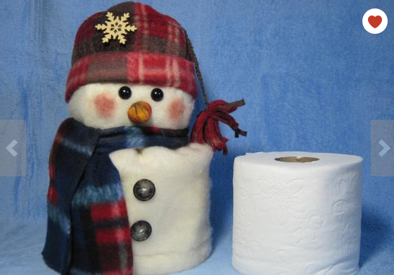 Snowman bathroom sets toilet paper cover