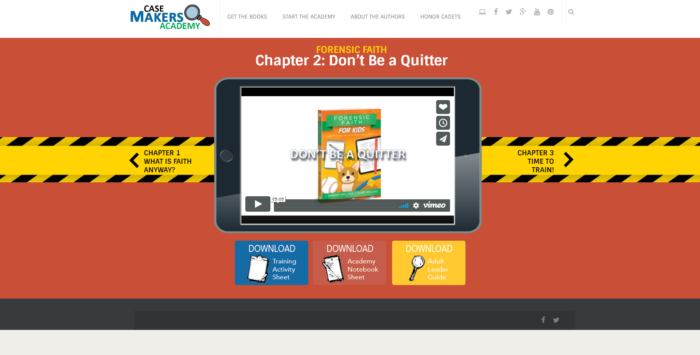 Forensic Faith For Kids Case Makers Academy Chapter 2: Don't be a quitter video and download screen shot