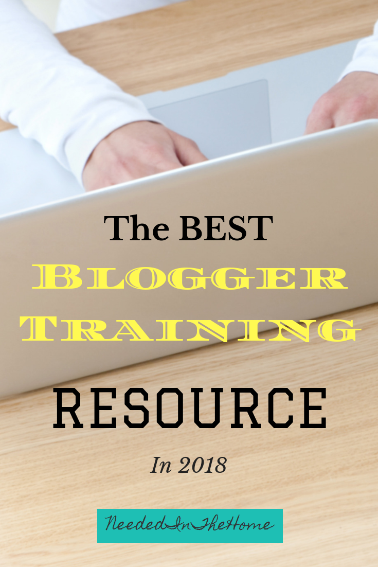 The Best Blogger Training Resource in 2018 woman's hands typing a blog post on a laptop neededinthehome