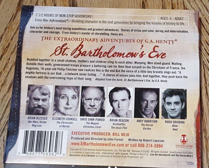 St. Bartholomew's Eve CD back cover image