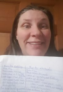 Balancing diapers and deadlines a woman and her handwritten must dos list