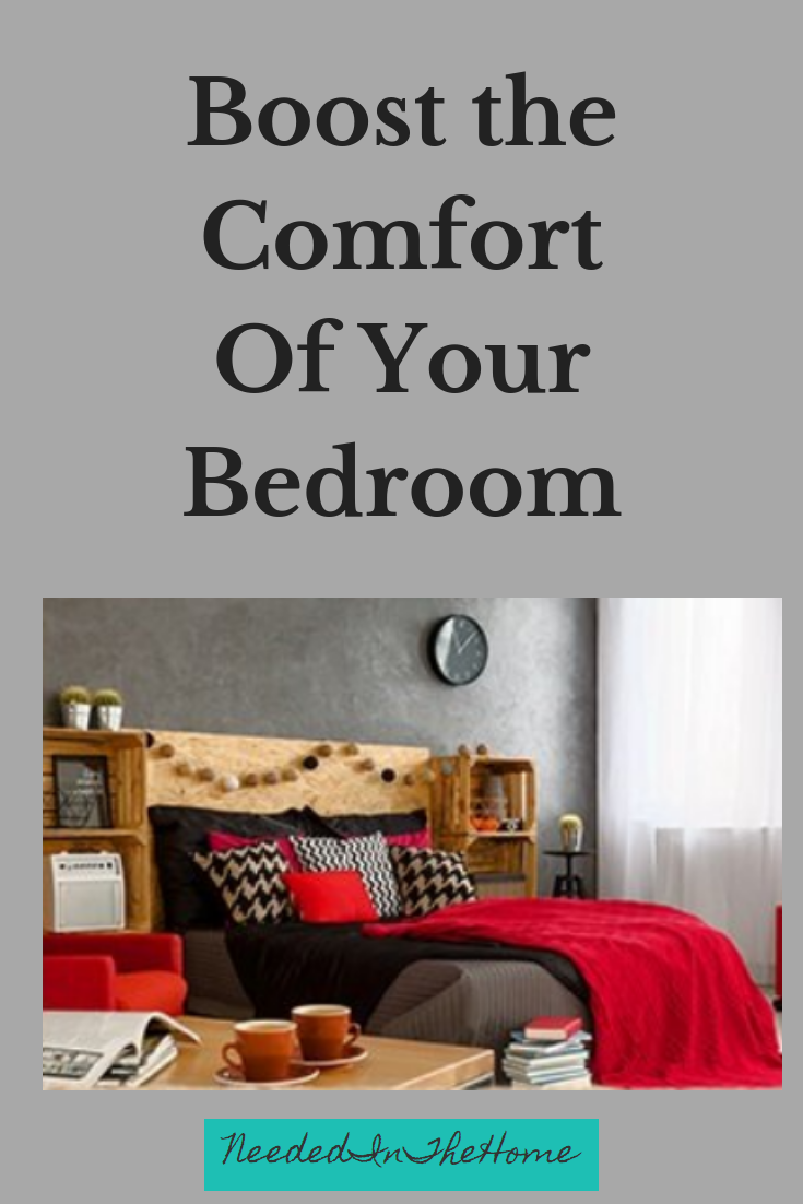 How to Boost the Comfort Of Your Bedroom a cozy bedroom pillows sheets comforter tea books clock neededinthehome
