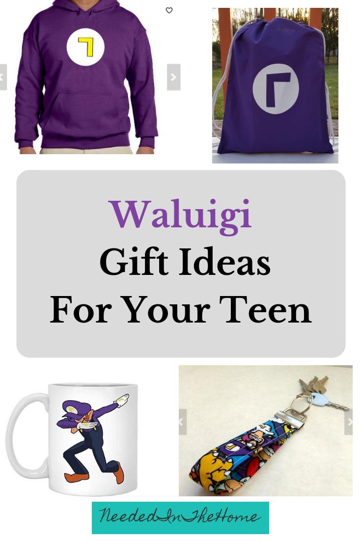 Waluigi Gift Ideas for your teen hoodie drawstring bag dab coffee mug keychain neededinthehome