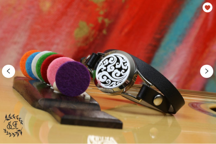 Essential oils bracelet diffuser colorful inserts