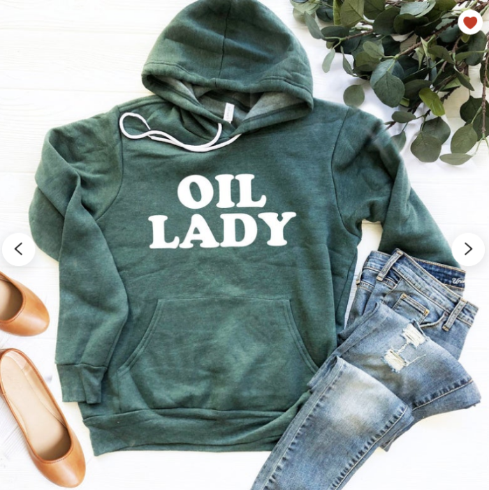 Oil Lady hoodie for the essential oil woman