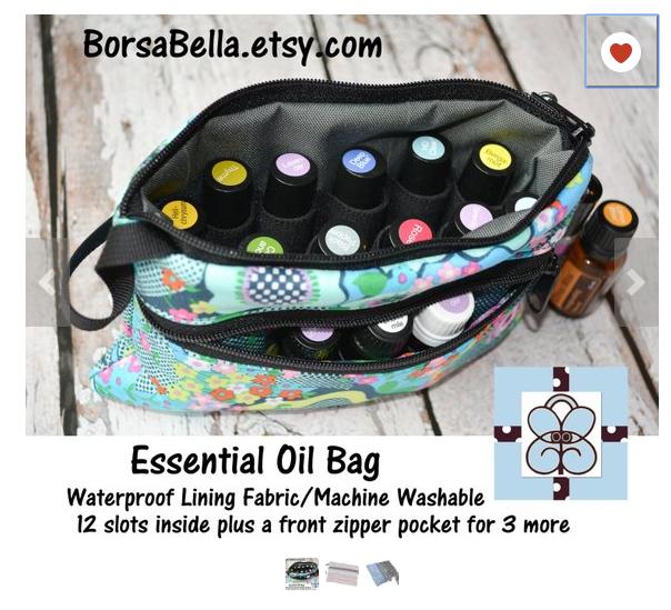 Essential oils lady gift - Essential Oil Organizer Bag