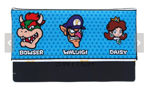 Waluigi Gift Ideas Bowser Waluigi and Daisy blue dotted dock sock cover for Nintendo Switch