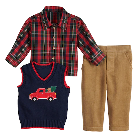 Baby Boys 3 piece holiday outfit