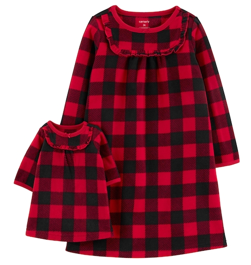 toddler girls nightgown and doll nightgown