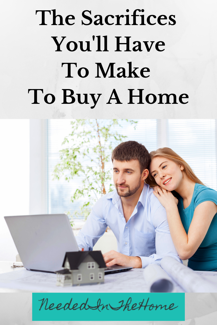 The Sacrifices You'll Have To Make To Buy A Home husband and wife looking for homes online laptop model house neededinthehome