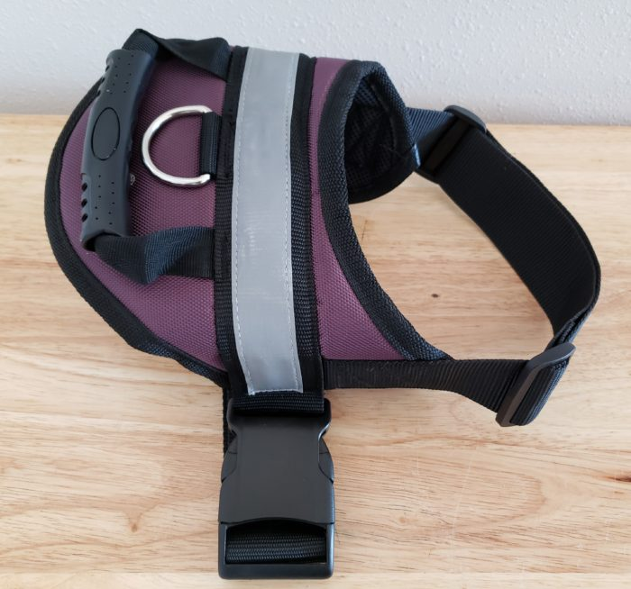 Honest chewy review purple dog harness with handle for medium size dogs