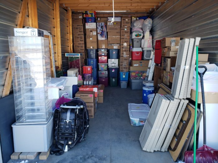 Best way to pack a storage unit items stacked to ceiling in a storage facility room