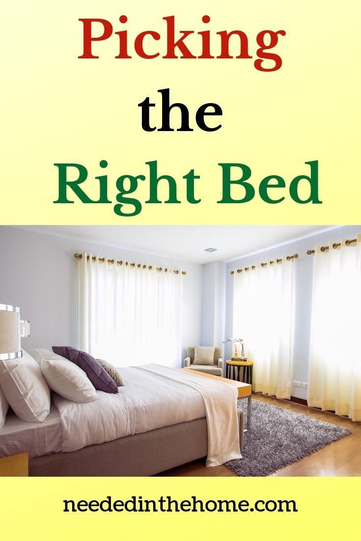 Picking the right bed bedroom with full size bed curtains rug pillows blankets neededinthehome