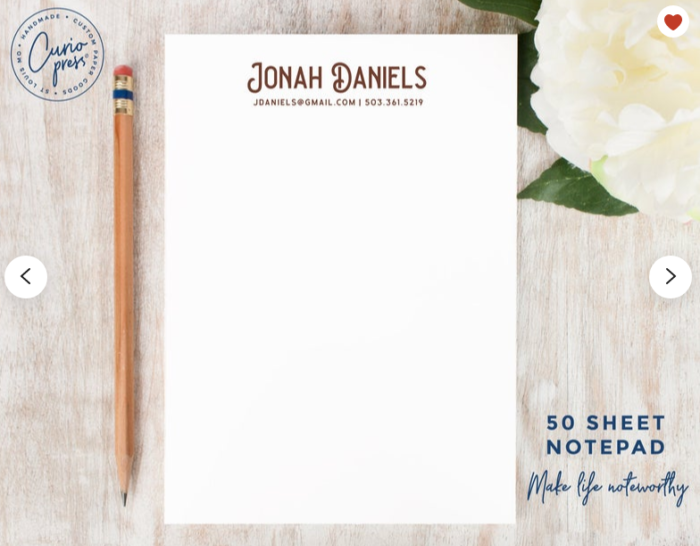 Unique stocking stuffers for your adult children personalized 5x7 notepad