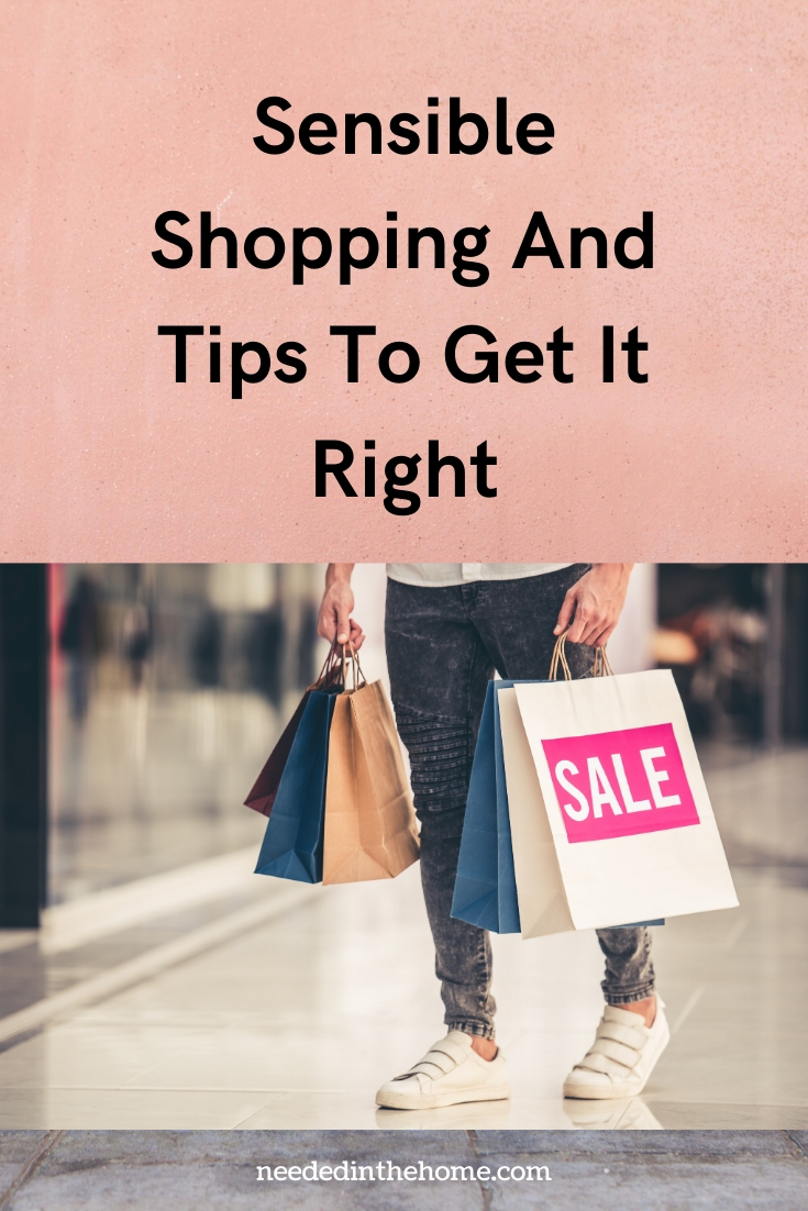 Sensible Shopping and tips to get it right woman shopping bags sale neededinthehome