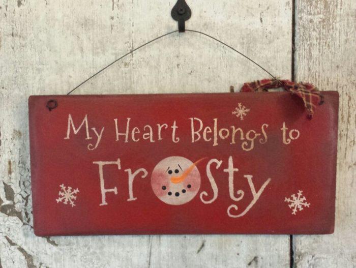 my heart belongs to frosty wall decor