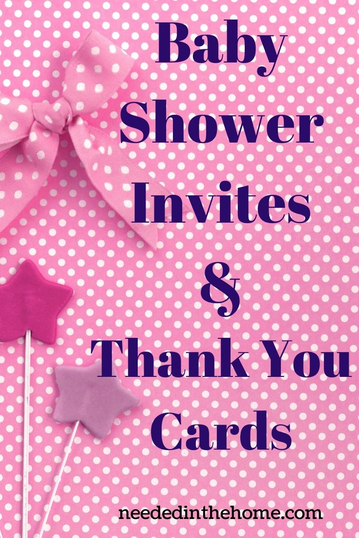 Baby Shower Invites & Thank You Cards ribbon lollipops neededinthehome