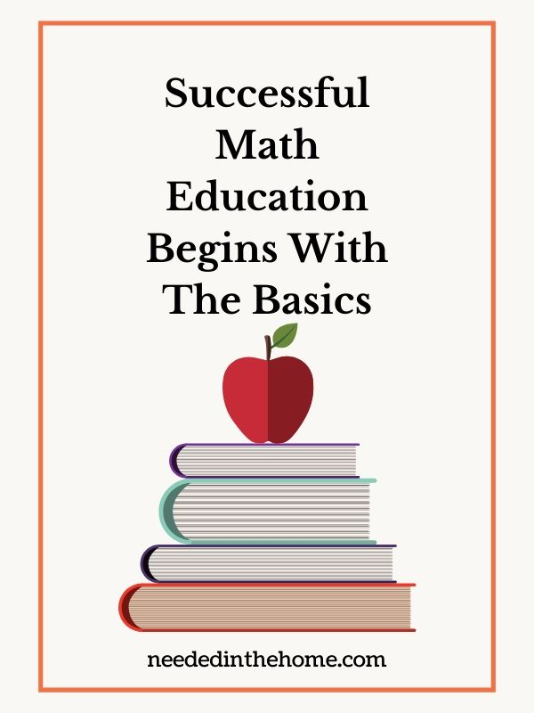 Successful Math Education Begins With The Basics apple books graphic neededinthehome