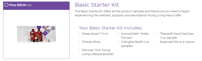 Young Living Basic Starter Kit to become distributor and be Essential Rewards Member StressAway NingXia Red