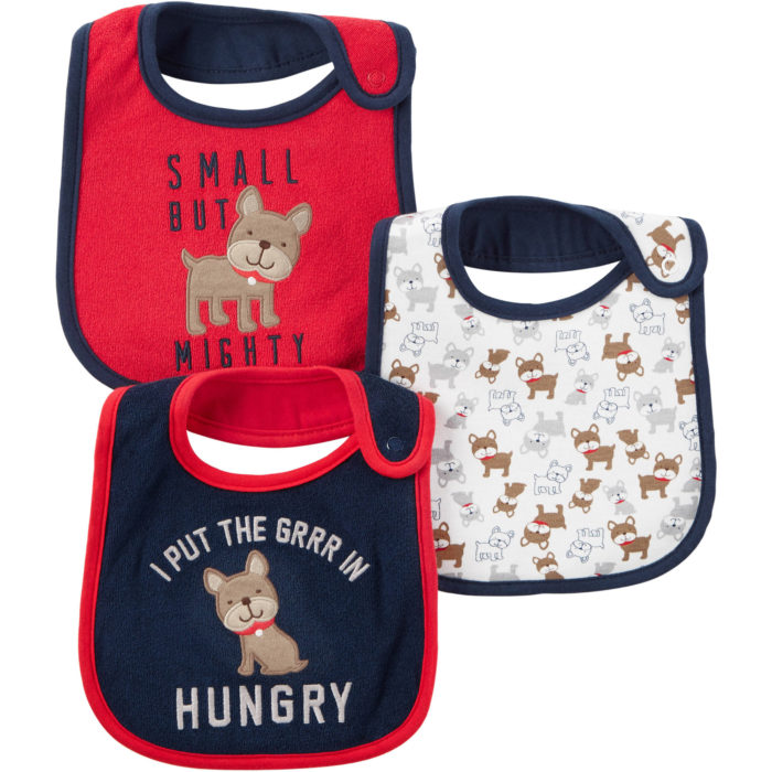 feeding bibs with snaps small but mighty i put the grrr in hungry dogs pups red blue white
