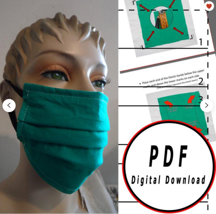 reusable items to get face mask pattern