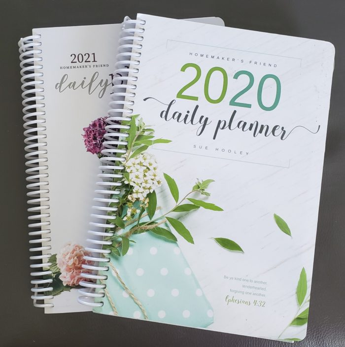 Homemaker's Friend Daily Planners 2020 and 2021 Cover Images designed by Sue Hooley