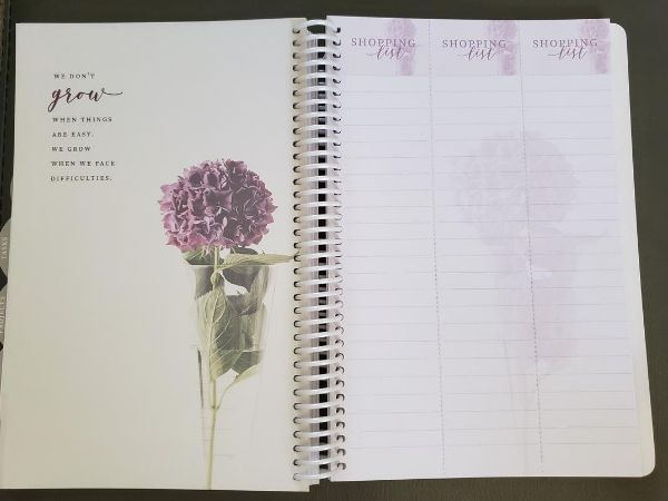 homemaker's friend daily planner 2021 shopping list tear out page
