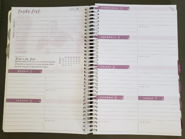 homemaker's friend daily planner 2021 weekly schedule and tasks list
