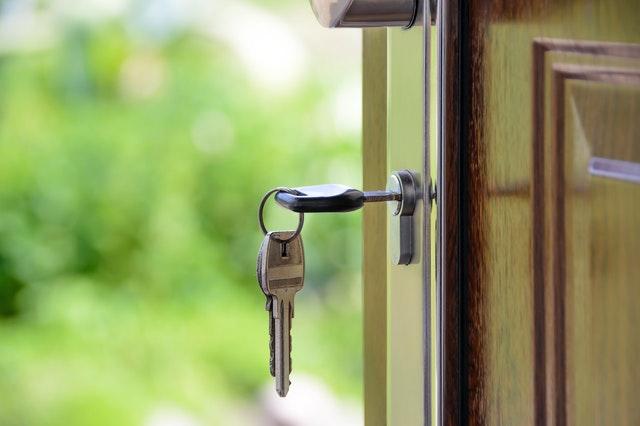 Get your dream home keys in the door lock